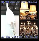 Dimmable 240V 3W 9W LED Candle light E14 Warm White Bulb Lights Silver Case LC26