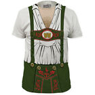 NEW Oktoberfest Dutch German Hairy Chest Costume Outfit Sizes T-shirt top tee