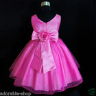 AU HP668 Hot Pink Communion Wedding Flower Girls Dress SZ 1-2-3-4-5-6-7-8-10-12Y