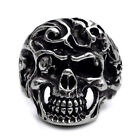 Black Silver Stylish Skull Stainless Steel Mens Ring Size 8 9 10 11 12 13 R340