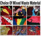 Scrap Craft Material 4 Rag Rugs Art Bags Doll Clothes Off Cuts Remnants
