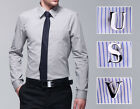 Men's Novelty Stainless Steel Shirt Initials Letter Personalized Cufflinks