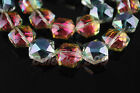 20 Charms Glass Crystal Faceted Hexagon Necklace Findings Spacer Loose Beads16mm
