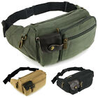 New Men's Small Military Canvas Waist Shoulder Hiking Fanny Crossbody Sports Bag