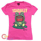 Domo Kun Girls Women T Shirt Woman Domo  in the Frog Tee Pink