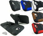 for Samsung Galaxy Note 2 II +Pry Tool Heavy Duty Hybrid Case&Belt Clip Holster