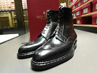 Vass Hand Made Shoes - Goyser Derby High Boots - F Last in Black Calf