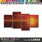 Stunning SEASCAPE SUNSET  Canvas Print Framed Photo Picture Wall Artwork WA
