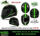 MSG Nitro NGFP Full Face OnTour Motorcycle Helmet Black/Green XS to XXL SALE NEW