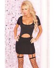 PINK LIPSTICK DROP-TOP GARTER DRESS OR MINI SKIRT CLUBWEAR Size S/M-M/L New