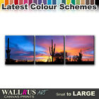 Desert Sunset LANDSCAPES  Canvas Print Framed Photo Picture Wall Artwork WA