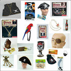 Pirate Fancy Dress Accessories Sword Eye Patch Hat Coin Pouch Hook Free P+P