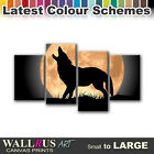 Wolf Moon Wild ANIMALS  Canvas Print Framed Photo Picture Wall Artwork WA