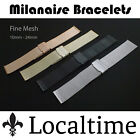 Quality Milanaise Mesh Watch Band S/S Adjustable Clip-Buckle 3 Colours & 4 Sizes