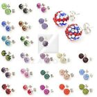 10mm Stud Earrings Crystal Rhinestone Clay Disco Ball Sparkle Studs