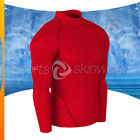 Mens Compression Turtle Neck Long Sleeve Red/Red Stripe T01R/R S ~ 2XL