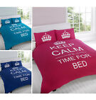 Keep Calm And It'S Time For Bed Duvet Cover Bedding Bed Set