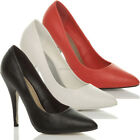 WOMENS LADIES HIGH HEEL POINTED CORSET STYLE WORK PUMPS COURT SHOES SIZE