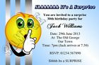 Personalised Surprise Birthday Party Invitations Suprise Invites Shhh Blue