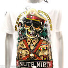m206w Minute Mirth T-shirt Tattoo Skull Soldier Police Ghost Design Zombie Tee