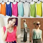 Candy 8 Color Korean Girl Chiffon Shoulder Petal Waistcoat Vest Blouse Tank Tops