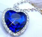NEW Fashion Womens Necklace Pandent Titanic Heart Of The Ocean Chain Lover Gift