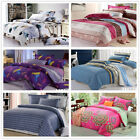 Striped Double/Queen/King Bed Quilt/Duvet Cover Set New 100%Cotton Pillowcases