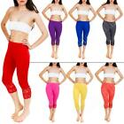 New Womens Full 3/4 Length Viscose Lace Summer Hot Leggings Trousers Size S M L