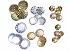 Jewelry Finding Perforated Beading Disc, Silver Gold Brass 25mm 18mm 13mm 12mm