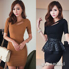 Novelty Women Short Sleeve Office Sexy Club Party Cocktail Evening Bodycon Dress