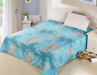 Cotton Flower King/Queen Size Fitted Sheets Flat Sheet Bed Linen Pillowcase New