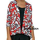 City Fusion 3/4 Sleeve Asymmetrical Jacket RED/BLACK $49.90