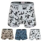 Mens Cotton Kama Sutra Sexy Print Boxer Boxers Shorts Trunks Briefs Underwear S