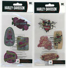 U CHOOSE  HARLEY DAVIDSON RED ROSES epoxy PINK DAGGERS Stickers motorcycle