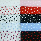 Hearts & Polka Dots Spots Cotton Poplin Fabric