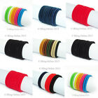 10pc ENDLESS SNAG FREE HAIR ELASTIC BAND BOBBLE NAVY BLUE RED BROWN BLACK 4.5cm