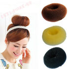 "Hot 4"" 3"" 2.5"" Black Brown Gold Hair Donut Bun Ring French Rolls Brand New"
