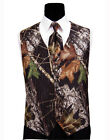 NEW Medium Mossy Oak Tuxedo Vest Tie & Hankie Alpine Break Up Camo Formal