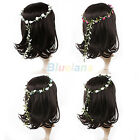 WOMEN FESTIVAL WEDDING BRIDAL GARLAND BOHO FLORAL FLOWER HAIR HEADBAND WREATHS