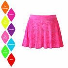 SALE NEW VELOUR SHORT CIRCULAR SKIRT DANCE/ICE SKATING/CHEER - VARIOUS COLOURS