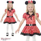 FANCY DRESS COSTUME # CHILD GIRLS CUTE RED & WHITE MOUSE DRESS AGE 4-12 YEARS
