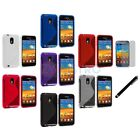 TPU S-Line Case+LCD Film+Stylus for Samsung Sprint Galaxy S2 SII Epic Touch 4G