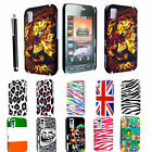 FOR SAMSUNG TOCCO LITE S5230 STYLISH PRINTED HARD SHELL CASE COVER + FREE STYLUS