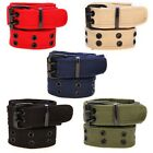5 Colours Mens Plain Webbing Canvas Belt Will Fit 28 To 40 Inch