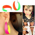 Fashion Retro Bicolor Super Cool Party Fluorescent Big Earrings Jewellery
