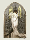 Icart Fashion Lady Flowers Tosca Theater Vintage Poster Repro FREE SHIPPING