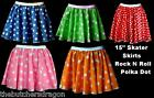 "Childs Polka Dot 15"" Skater Skirt Roller Derby Fancy Dress Age 6-12"