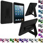Hybrid Heavy Duty Hard/Soft Silicone Case Cover with Stand for Apple iPad Mini