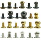 Head Button Stud Screwback Leather Screw brass 4mm 5mm 6mm 7mm 8mm 9mm 10mm 12mm