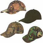 Kids Boys Baseball Cap Camo Hunting Fishing Hat Military Army Shooting Green